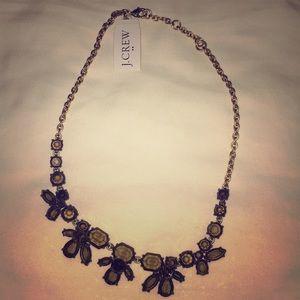 NWT J. Crew smoky brown crystal necklace